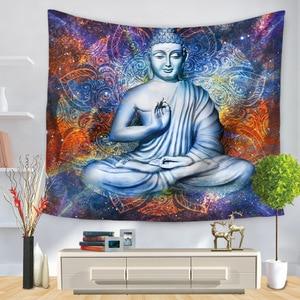 Image 2 - Indian Buddha Standbeeld Tapijt Muur Opknoping Muur Doek Chakra Wandtapijten Psychedelische Yoga Tapijt Woondecoratie