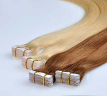 PU Taping hair extensions Colored Brazilian hair 40pcs/lot straight hair extensions Color613 Free Shipping