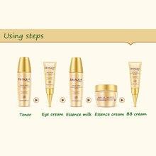 BIOAQUA Luxury Set 5pcs Skin Care Whitening Moisturizing Face Cream Anti Wrinkle Aging Eye Cream Nude make-up BB Cream Concealer