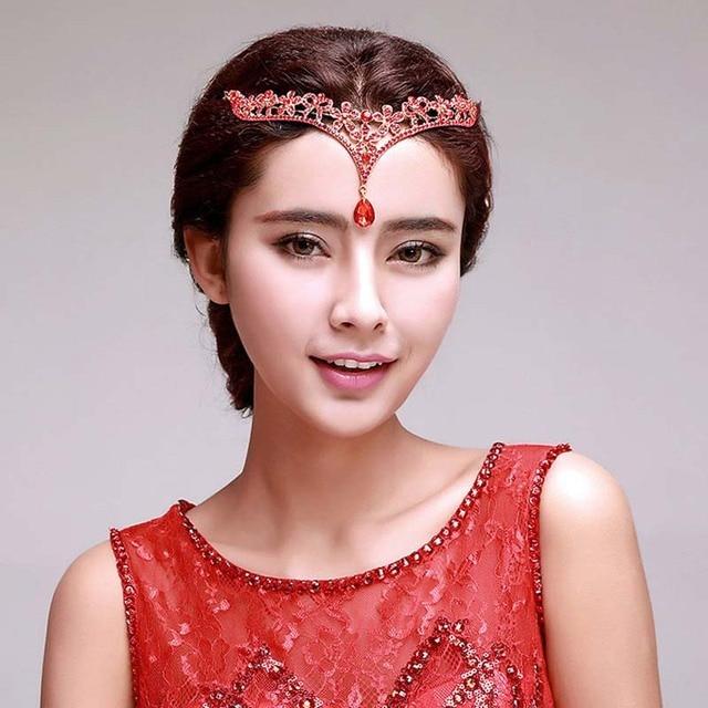 Fairy Queen Delicate Crystal Crown Hair Accessories Bridal Wedding Tiaras  Head Jewelry Rhinestone Forehead Head Pieces b5baaf1a49a8