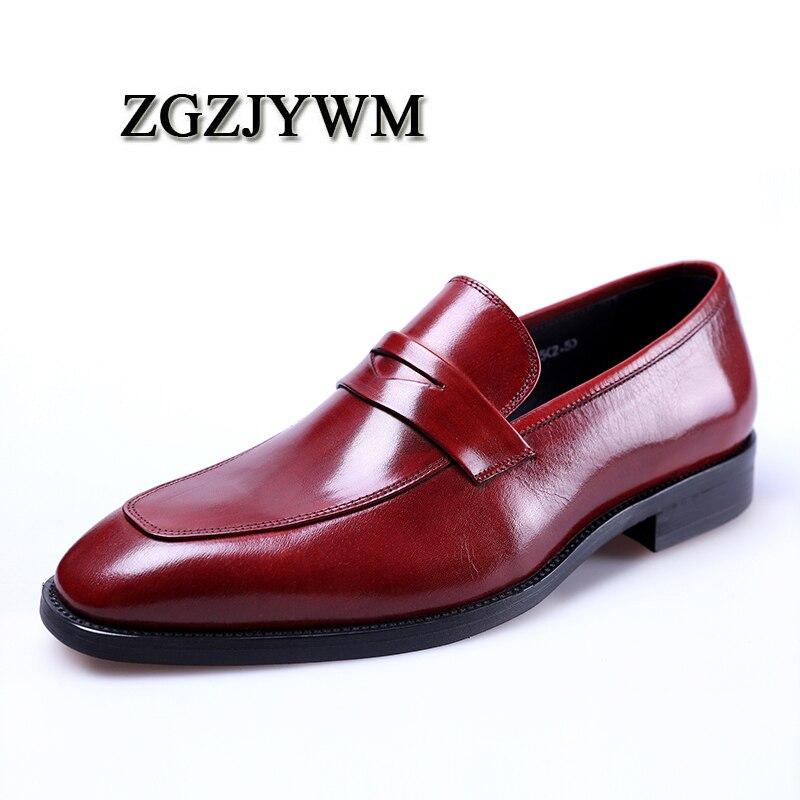 on Mocassins Quality Preto Vestido Luxo Couro Casamento De Negócios Homens Genuíno Black Slip Top red Itália Escritório vermelho Marca Sapatos Zgzjywm On6WSzxn