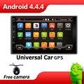 Автомобиль Электронные Авто 2Din Android 4.4 dvd-плеер Автомобиля Стерео Gps-навигация WI-FI + Bluetooth + Радио + Quad 4 Core CPU + 3 Г + TV RDS Камеры