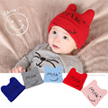 0 to 2 Years Toddlers Child Hat Spring Summer Autumn Cotton Newborn Baby Bebe Cap Horns Smile Headgear