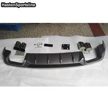 A3 диффузор, губа на задний бампер подходит для Audi A3 S3~ задняя губка автомобиля Стайлинг авто модифицированные аксессуары
