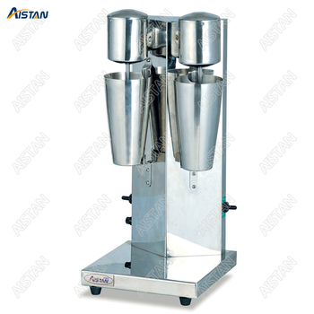 MS2 electric double head coffee milk shaker blender machine with two bottles 1