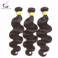 SHENLONG HAIR Brazilian Hair Weave Bundles Body Wave Human Hair 3 Bundles Can By With Closure Non Remy Double Weft Hair