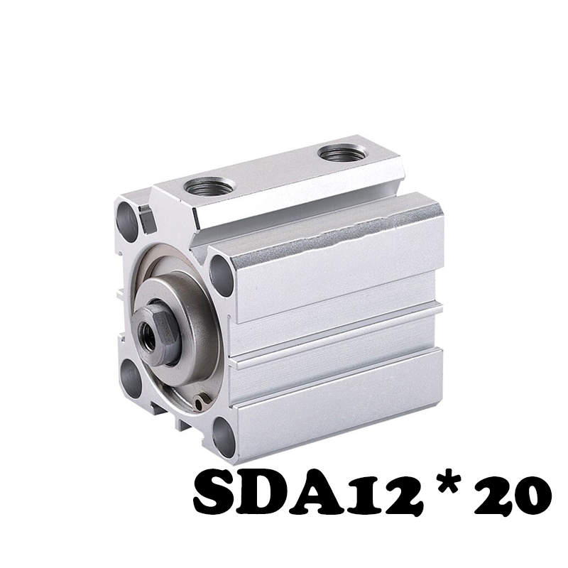 SDA12*20 Standard cylinder thin Electronic Components Pneumatic Cylinder 12mm Bore 20mm