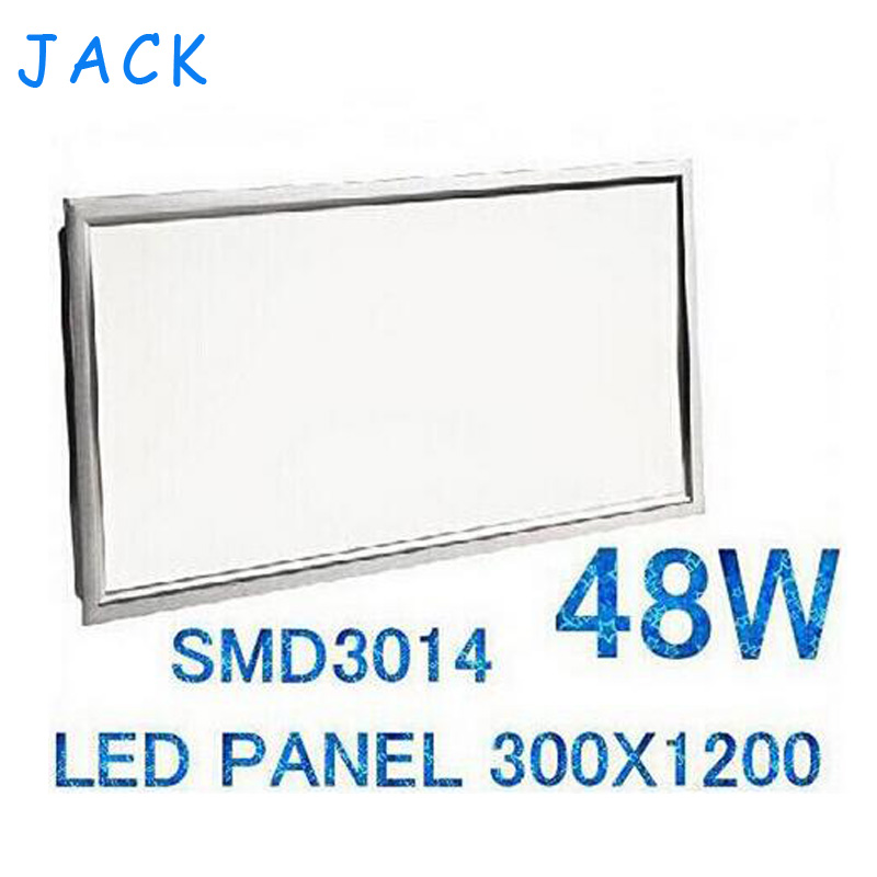 ФОТО Free Shipping X4 Led Panel 300x1200 Hot Sales High Quality SMD 3014 48W ceiling lighting for Kitchen Office focus With Driver