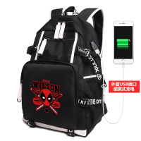 2018 Newest Royal Oxford Marvel Deadpool Comics Super Hero Movie Civil External USB charging interface Multi function Backpack