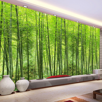 Custom Photo Wallpaper Bamboo Forest Art Wall Painting Living Room TV Background Mural Home Decor Wallpaper Papel De Parede 3D custom 3d photo wallpaper green forest scenery large wall painting living room bedroom background wall mural papel de parede 3d