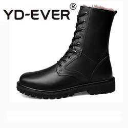 Пояса из натуральной кожи ботинки martin осень и зима Военная обувь Плюшевые Уличная Повседневная обувь мужская черная на шнуровке