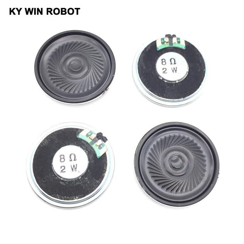 Купить с кэшбэком 5pcs/lot New Ultra-thin speaker 8 ohms 2 watt 2W 8R speaker Diameter 40MM 4CM thickness 5MM