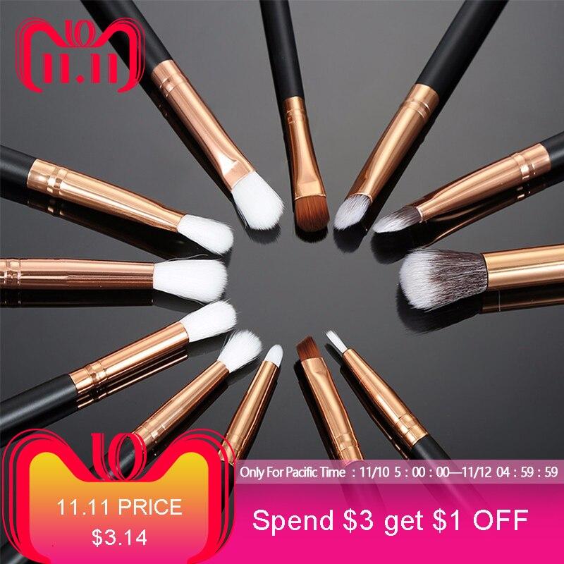 12pcs Pro Makeup Brushes Set Foundation Powder Eyeshadow Eyeliner Lip Brush Tools Highlighter Makeup Brushes Pincel Maquiagem цена