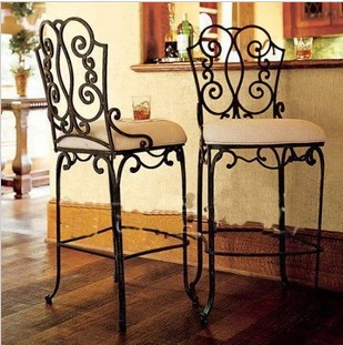 The New European Designer Furniture Wrought Iron Bar Chairs Stool High Dining