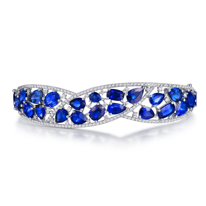 fine estate and bangles gold bracelets sapphire bangle diamond htm jewelry bracelet
