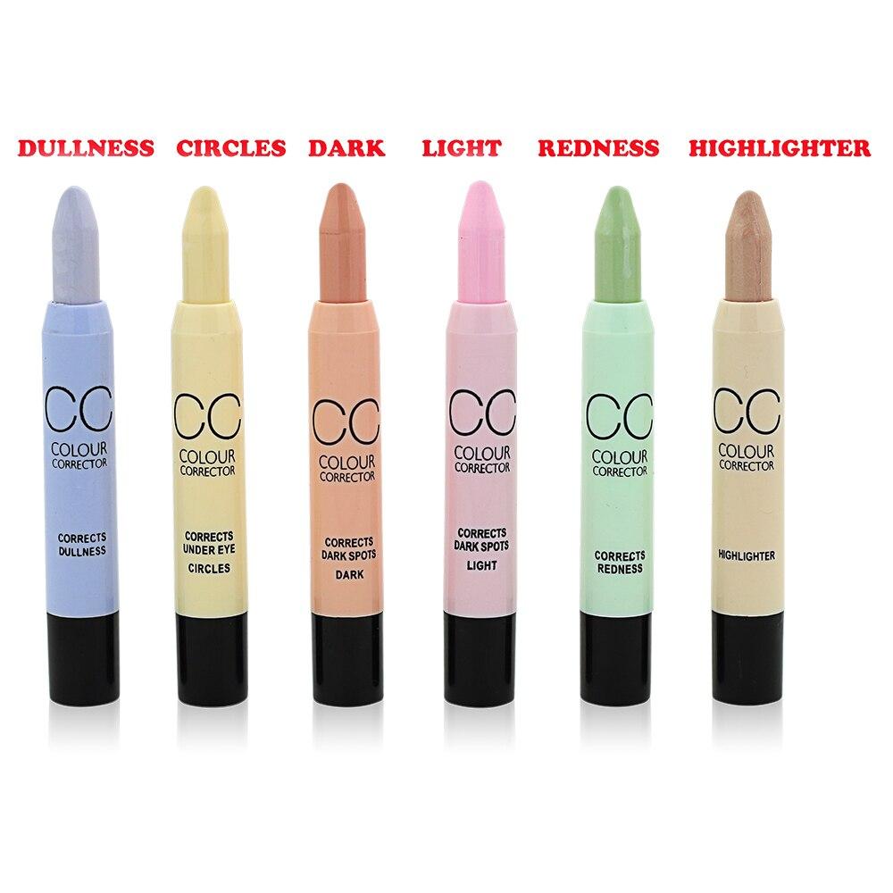 Face Makeup CC Color Corrector Blemish Concealer Cream Base ...