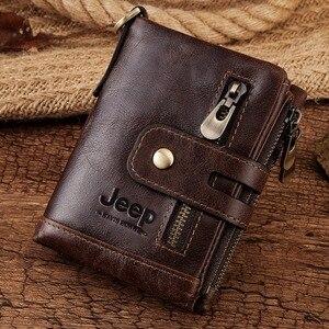 Image 5 - Livre gravura 100% couro genuíno dos homens carteira moeda bolsa pequena mini titular do cartão corrente portfomonee masculino walet bolso