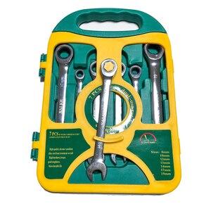 Image 2 - Jeu de clés à cliquet, outils manuels pour les réparations automobiles, jeu de clés à cliquet, outils de couple, 8 19mm