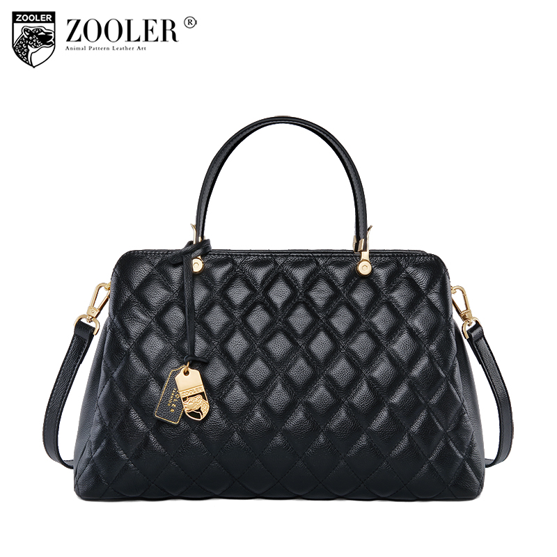 ZOOLER 2018 NEW women leather bag stylish designed genuine leather bags top handle high quality cowhide bag bolsa feminina#b195 new product sales zooler brand zipper cowhide bag top handle shoulder bag simply solid genuine leather bag women bag bolsas c108