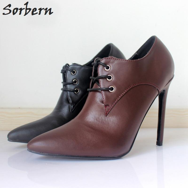 Sorbern Mature Women Pumps High Heels Ladies Shoes Size 43 With Heels Vintage Shoes Pump -3269