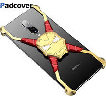 RIron Man Design Metal Case for Oneplus 7 Personality Bumper Cover 7pro Anti-shock and shockproof