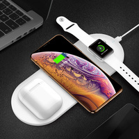 3 In 1 Wireless Charger Station For Iphone X XS Fast Charge Wireless Charge Pad For Iphone Airpods Charge Stand For Apple Watch