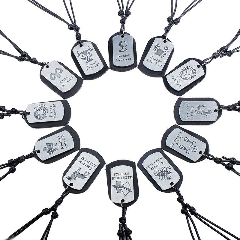 Leo Zodiac Sign Traits Dog Tag Necklace Pendant Stainless: Popular Pisces Aquarius-Buy Cheap Pisces Aquarius Lots