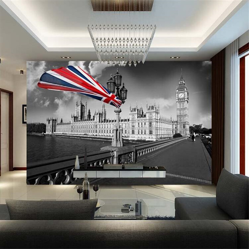 Aliexpress.com : Buy Custom 3d Wallpaper Bar Minimalist Modern Living Room  Sofa Personalized Retro Nostalgia London Streetscape Wall Mural Wallpaper  From ...