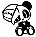 Car styling car stickers JDM DUB Panda sombrero de la motocicleta del coche pegatinas reflectantes pegatinas para ford KIA
