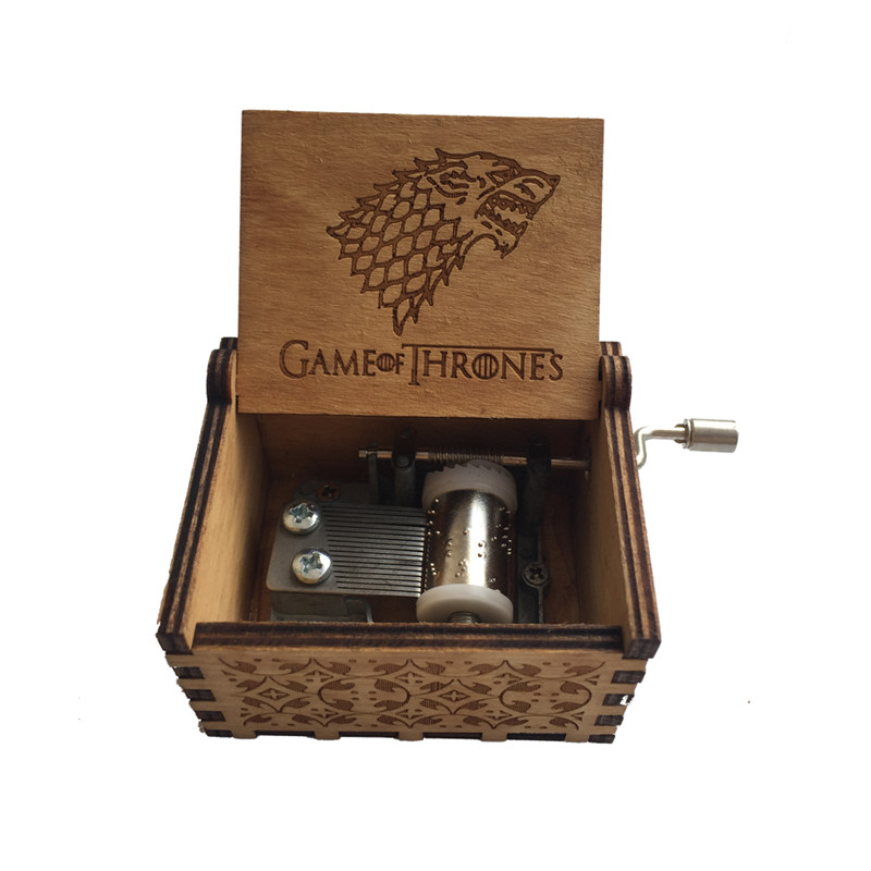 Game of Thrones Theme Music Box Creative Antique Carved Wooden Game of Thrones Musical Boxes Caixa De Musica Drop Shipping in Music Boxes from Home Garden