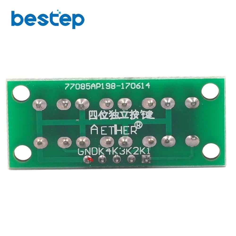 DIY Kit 1x4 4 Independent Key Button Keypad Keyboard Module Mcu for Student Class Design Graduation Project Experiment