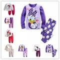 2016 новый Babys Пижамы Хлопка девушка Пижамы девушки Одежда животные Детские Комплекты Белья костюмы дети пижамы устанавливает 2-7y