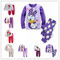 2016 novos Babys Algodão Pijamas menina Pijamas Roupas meninas animais ternos Do Bebê Conjuntos de Underwear crianças pijama define 2-7a