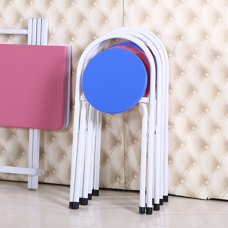 living room chair restaurant cafe house stool folding pink blue color chair stool free shipping retail wholesale living room chair dining room stool folding cloth seat household chair free shipping