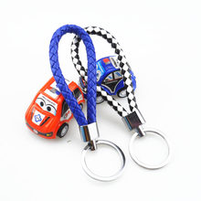 Unisex woven leather rope handmade car keychain for Chevrolet Cruze TRAX Aveo Lova Sail EPICA Captiva Malibu Volt Camaro Cobalt(China)