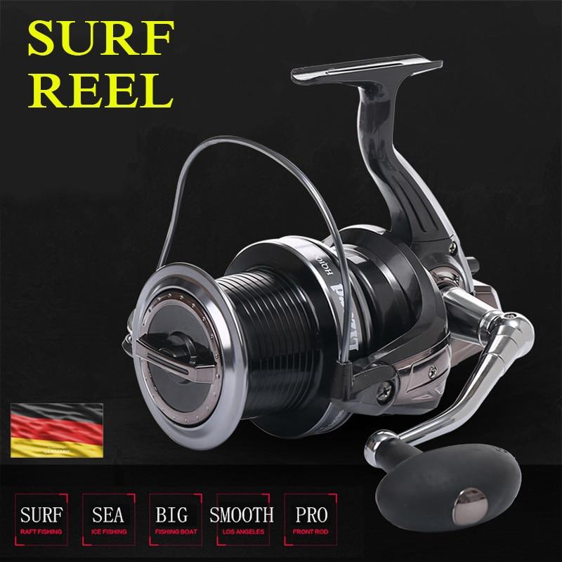 9000/10000 metal lleno carrete jigging trolling tiro largo para carpa y agua salada surf spinning Big Sea Fishing carrete