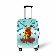 ONE2 Design Christmas Travel Accessories elastic luggage cover,3D spandex suitcase cover,luggage cover travel suitcase cover