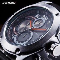SINOBIนาฬิกาผู้ชายยี่ห้อผู้ชายกีฬานาฬิกาผู้ชายควอตซ์นาฬิกาผู้ชายสบายๆทหารนาฬิกาข้อมือกันน...