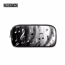 ZRENTAO 3D musical note printed pencil bag pen case makeup