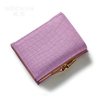 Fashion Stone Women Wallet Small Three Fold PU Leather Coin Wallet Mini Size Women Purse Brand