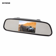 DIYSECUR 5 inch HD Display Rear View Mirror Monitor 2ch Video Input Car Monitor for DVD Camera VCR