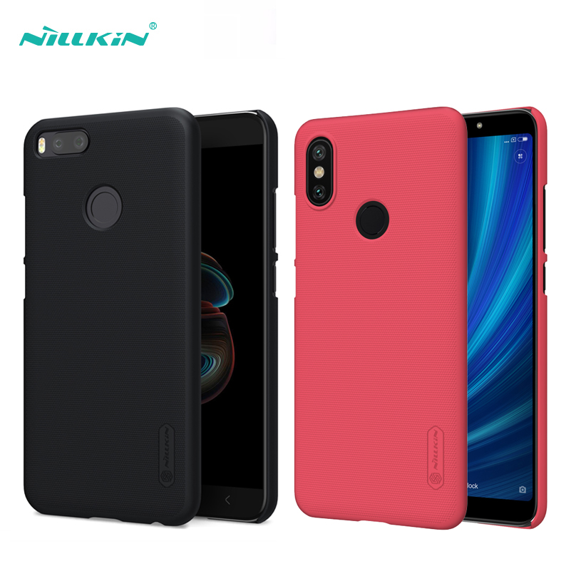 xiaomi Mi A2 Mi A1 Case xiaomi Mi 6X Mi 5X cover NILLKIN Frosted Shield hard back cover for xiaomi MiA2 MiA1 mi6x mi5x free film