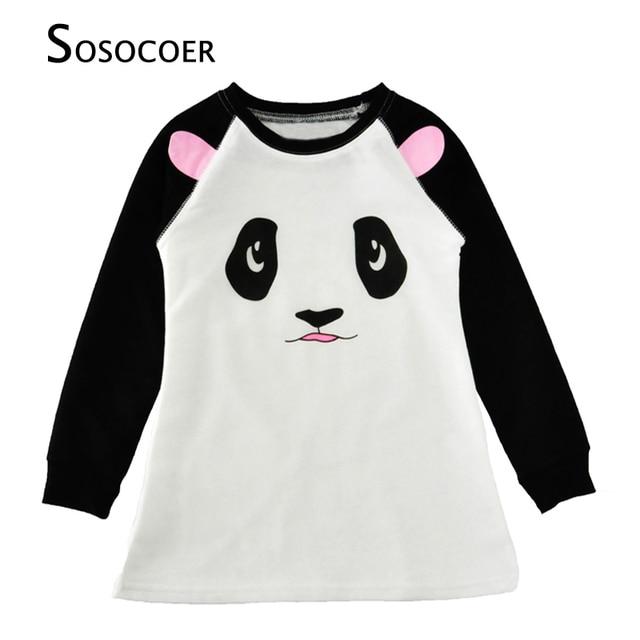 0fd29dd7b SOSOCOER Girls Dresses Spring Autumn 2017 Cartoon Animal Kids Costume Panda  Mouse Long Sleeve Dress Baby Girl Clothes Outfuts