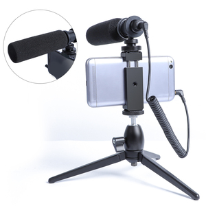 Image 2 - הקבל וידאו הקלטת מיקרופון עבור טלפון Nikon Canon Sony DSLR מצלמה Vlogging ראיון מיקרופון עם חצובה