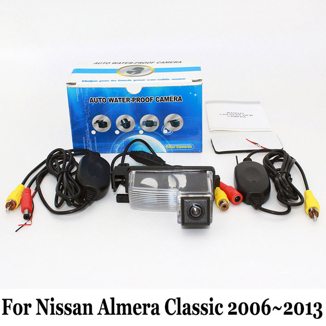 Rear View Camera For Nissan Almera Classic 2006~2013 / RCA AUX Wired Or Wireless / CCD Night Vision / HD Wide Lens Angle Camera