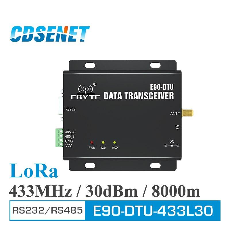 E90-DTU-433L30 sans fil émetteur-récepteur LoRa RS232 RS485 433 MHz 1W longue portée 8km PLC émetteur-récepteur Radio Modem 433 MHz LoRa