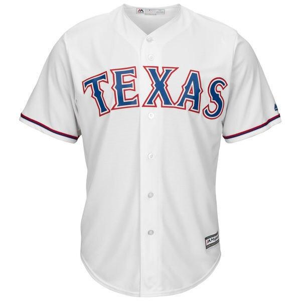MLB Mens Texas Rangers Jackie Robinson Baseball White Cool Base Jersey
