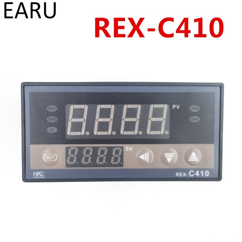 Digital-pid-temperaturregler Temp Controller RKC REX-C410 48*96mm Horizontale, eingang thermoelement K, PT100, J Relaisausgang für wärme