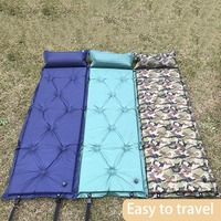 Seif Inflatable Outdoor Camping Picnic Automatic Inflatable Sleeping Mat Mattress Moistureproof Beach Mat With Pillow