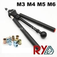 Rivet Nut Guns M3 M4 M5 M6 Double Hand Manual Riveters Hand Blind Rivet Tool SSM860